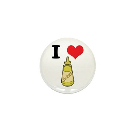 I Heart (Love) Mustard Mini Button