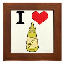I Heart (Love) Mustard Framed Tile
