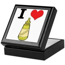 I Heart (Love) Mustard Keepsake Box