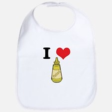 I Heart (Love) Mustard Bib