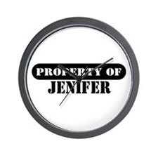 Property of Jenifer Wall Clock