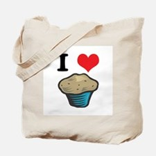 I Heart (Love) Muffins Tote Bag