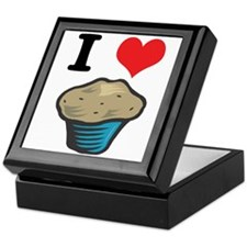 I Heart (Love) Muffins Keepsake Box