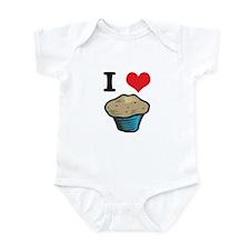 I Heart (Love) Muffins Infant Bodysuit