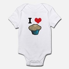 I Heart (Love) Muffins Infant Bodysuit