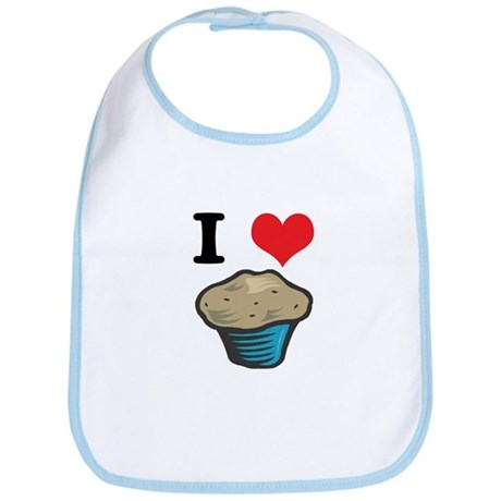 I Heart (Love) Muffins Bib