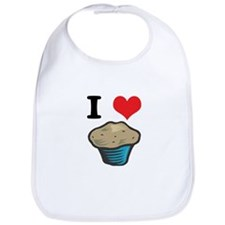 I Heart (Love) Muffins Bib