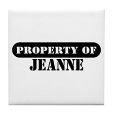 Property of Jeanne Tile Coaster