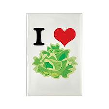 I Heart (Love) Lettuce Rectangle Magnet