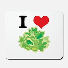 I Heart (Love) Lettuce Mousepad