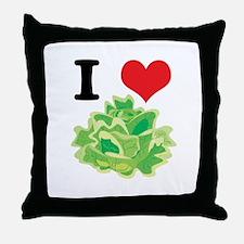 I Heart (Love) Lettuce Throw Pillow