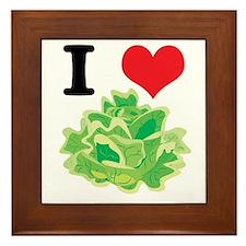 I Heart (Love) Lettuce Framed Tile