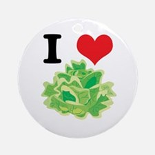 I Heart (Love) Lettuce Ornament (Round)