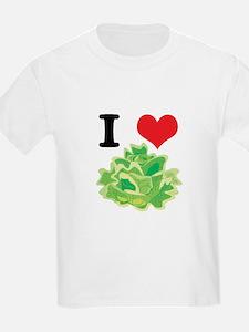 I Heart (Love) Lettuce Kids T-Shirt