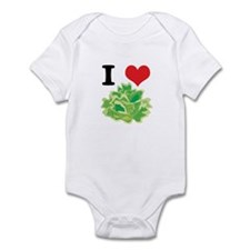 I Heart (Love) Lettuce Infant Bodysuit