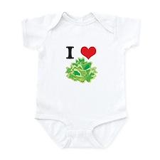 I Heart (Love) Lettuce Infant Bodysuit