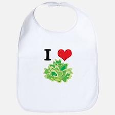 I Heart (Love) Lettuce Bib