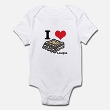I Heart (Love) Lasagna Infant Bodysuit