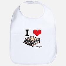 I Heart (Love) Lasagna Bib