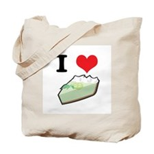 I Heart (Love) Key Lime Pie Tote Bag