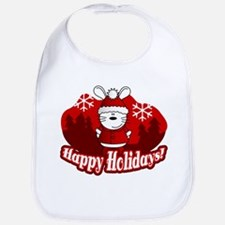 Happy Holidays Bib