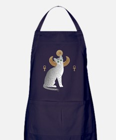 Cute Egyptian mau Apron (dark)