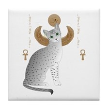 Funny Egyptian cat Tile Coaster