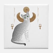 Cute Egyptian cat Tile Coaster