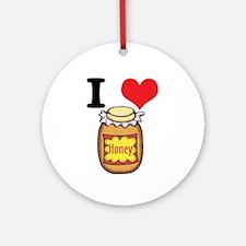 I Heart (Love) Honey Ornament (Round)