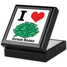 I Heart (Love) Green Beans Keepsake Box