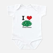 I Heart (Love) Green Beans Infant Bodysuit