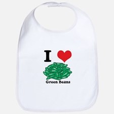 I Heart (Love) Green Beans Bib