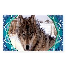 Geometric Wolf Decal