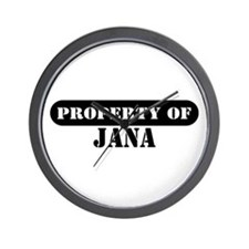 Property of Jana Wall Clock