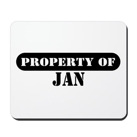 Property of Jan Mousepad