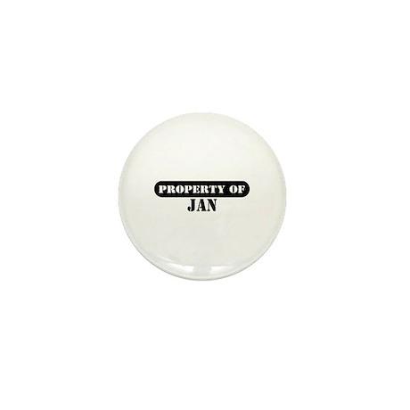 Property of Jan Mini Button