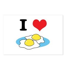 I Heart (Love) Fried Eggs Postcards (Package of 8)