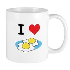 I Heart (Love) Fried Eggs Small Mug