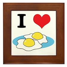 I Heart (Love) Fried Eggs Framed Tile
