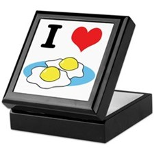 I Heart (Love) Fried Eggs Keepsake Box