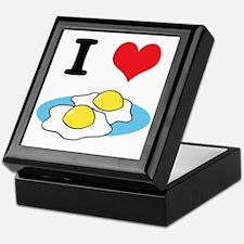 I Heart (Love) Fried Eggs Keepsake Box