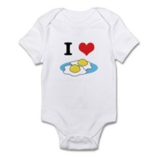 I Heart (Love) Fried Eggs Infant Bodysuit