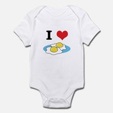 I Heart (Love) Fried Eggs Infant Bodysuit