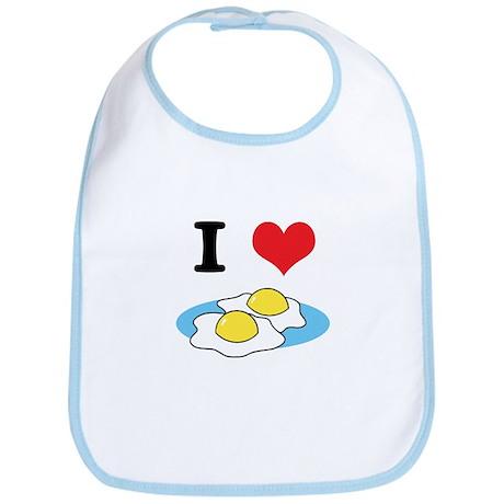 I Heart (Love) Fried Eggs Bib