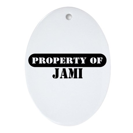 Property of Jami Oval Ornament