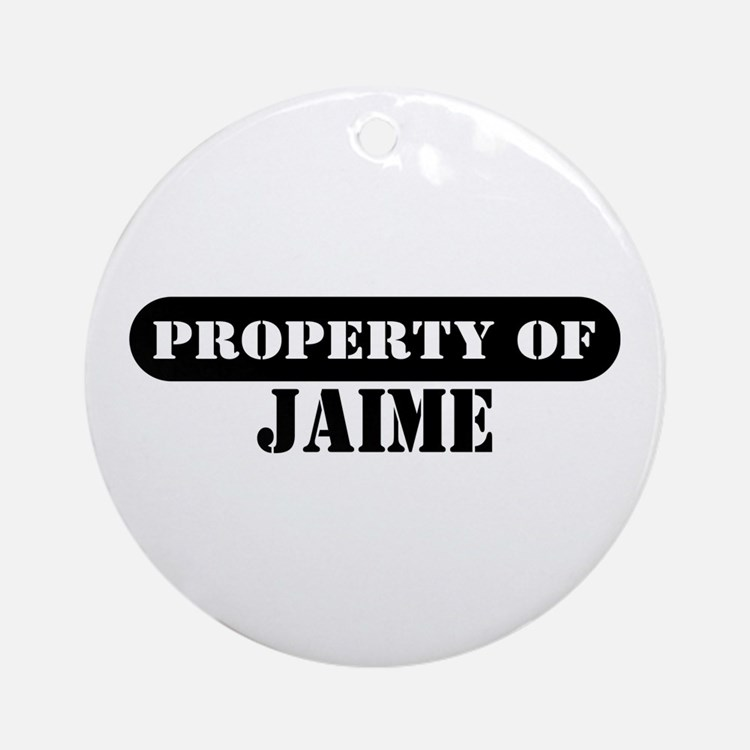 Property of Jaime Ornament (Round)