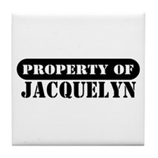 Property of Jacquelyn Tile Coaster