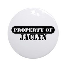 Property of Jaclyn Ornament (Round)
