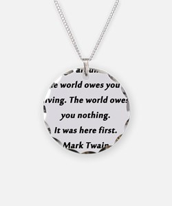 What the World Owes Mark Twain Necklace