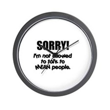 Mean People Wall Clock